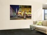 Eiffel Tower and Cafe on Boulevard De La Tour Maubourg, Paris, France Posters af Jon Arnold