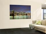Brooklyn Bridge and Manhattan Skyline at Dusk Prints by Christopher Groenhout
