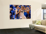 Oklahoma City Thunder v Dallas Mavericks - Game One, Dallas, TX - MAY 17: Dirk Nowitzki and Nick Co Prints by Tom Pennington
