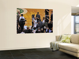 Los Angeles Lakers v Boston Celtics, Boston, MA - February 10: Reggie Miller and Ray Allen Prints by Steve Babineau