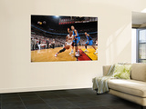Dallas Mavericks v Miami Heat - Game Two, Miami, FL - JUNE 2: Chris Bosh and Dirk Nowitzki Art by Jesse D. Garrabrant