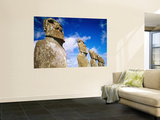 Moai at Ahu Akivi, Easter Island, Valparaiso, Chile Prints by Peter Hendrie