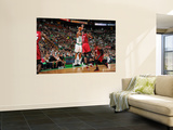 Miami Heat v Boston Celtics - Game Three, Boston, MA - MAY 7: Ray Allen, Chris Bosh and Dwyane Wade Print by Brian Babineau