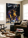 Los Angeles Lakers v New Orleans Hornets - Game Three, New Orleans, LA - APRIL 22: Carl Landry and  Art by Layne Murdoch