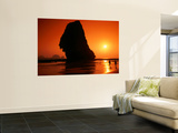 Islands Silhouetted at Sunset, Rai Leh Beach Print by Paolo Cordelli