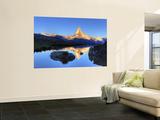 Switzerland, Valais, Zermatt, Lake Stelli and Matterhorn (Cervin) Peak Prints by Michele Falzone