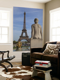 Statue on Trocadero and Eiffel Tower Posters by Craig Pershouse