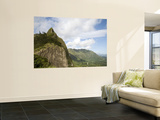 Pali Peak and Koolau Mountains Seen from Nuuanu Pali Lookout Prints by Linda Ching