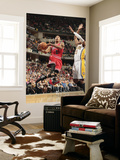 Chicago Bulls v Indiana Pacers - Game Three, Indianapolis, IN - APRIL 21: Derrick Rose and Danny Gr Print by Ron Hoskins