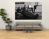 Men Relaxing at Home After Work Prints by Nina Leen