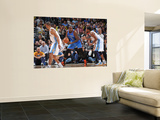 Oklahoma City Thunder v Denver Nuggets - Game 4, Denver, CO - April 25: Kendrick Perkins and Nene H Posters