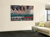 Bird's Eye View over Townhouses on Markt from Belfry (Belfort) Print by Krzysztof Dydynski