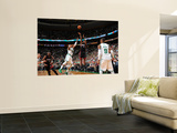 Miami Heat v Boston Celtics - Game Four, Boston, MA - MAY 9: LeBron James and Paul Pierce Prints by Brian Babineau