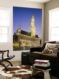 Grand Place, Town Hall, Night View, Brussels, Belgium Posters by Steve Vidler