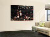 Miami Heat v Chicago Bulls - Game Five, Chicago, IL - MAY 26: Chris Bosh and Taj Gibson Poster by Jonathan Daniel