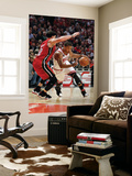 Miami Heat v Chicago Bulls - Game Two, Chicago, IL - MAY 18: Derrick Rose and Mike Bibby Print by Gregory Shamus