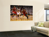 Chicago Bulls v Miami Heat - Game ThreeMiami, FL - MAY 22: Derrick Rose and Mario Chalmers Art by Marc Serota