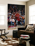 Miami Heat v Milwaukee Bucks, Milwaukee, WI - January 07: Chris Bosh and Luc Richard Mbah a Moute Prints by Gary Dineen