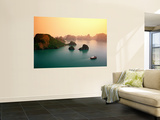 Overhea of Some of Bay's 3000 Limestone Islands Seen from Rotunda on Summit of Titop Island Poster by Mark Daffey