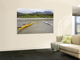 Kayaks at Low Tide in Zoe Bay Prints by Andrew Bain
