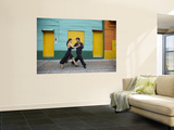 Pair of Tango Dancers Performing on Streets of La Boca Posters by Brent Winebrenner