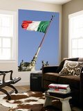 Flag Flying in Front of Neo Classical Ii Vittoriano Posters by Will Salter