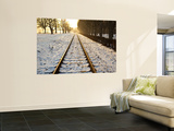 Train Tracks in Snow in Winter Prints by Richard l'Anson