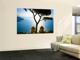 View from the 13th Century Villa Rufolo in Ravello, Amalfi Coast Print by Glenn Beanland