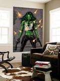 She-Hulk No.26 Cover: She-Hulk Fighting Prints by Greg Land