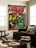 Marvel Comics Retro: Luke Cage, Hero for Hire Comic Book Cover No.2, Smashing Wall (aged) Prints