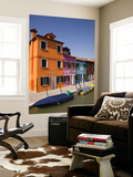 Colorful Houses and Boats on Canal Poster by Dennis Walton