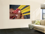 Close-Up of Woman's Hands Holding Incense Sticks Posters af Antony Giblin