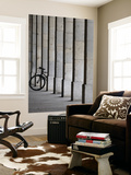 Bicycle Wheel in Arcade Print by David Borland