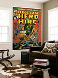 Marvel Comics Retro: Luke Cage, Hero for Hire Comic Book Cover No.6, Assassin in Armor! (aged) Art