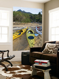 Kayakers on Sunken Reef Bay Prints by Andrew Bain