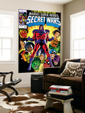 Secret Wars No.2 Cover: Magneto, Hulk, Spider-Man, Thing, Iron Man and Thor Prints by Mike Zeck