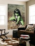 She-Hulk No.3 Cover: She-Hulk Crouching Posters by Adi Granov