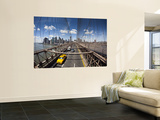 Brooklyn Bridge with South Manhattan in Background Posters by Huw Jones