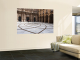 The Courtyard of Santa Maria De Montserrat, Benedictine Abbey Posters by Dennis Johnson