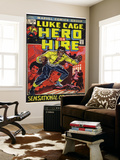 Marvel Comics Retro: Luke Cage, Hero for Hire Comic Book Cover 1, Origin (aged) Poster