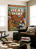 Marvel Comics Retro: Luke Cage, Hero for Hire Comic Book Cover 13, Fighting Lion-fang (aged) Print