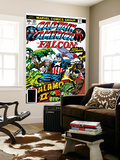 Captain America And The Falcon No.203 Cover: Captain America, Falcon, Marvel Comics and Thor Prints by Jack Kirby