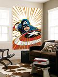 Captain America V4, No.27 Cover: Captain America Fighting Prints by Dave Johnson