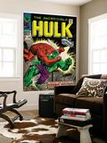 Marvel Comics Retro: The Incredible Hulk Comic Book Cover No.106, Titan Rages (aged) Prints