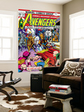 Avengers 142 Cover: Thor, Hawkeye, Iron Man, Rawhide Kid, Kid Colt and Avengers Prints by George Perez