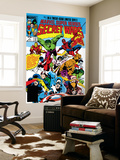 Mike Zeck - Secret Wars No.1 Cover: Captain America Plakát