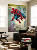 Marvel Comics Retro: The Amazing Spider-Man Comic Panel (aged) Kunst