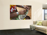 Embera Indian Woman Weaving Basket Poster by Christer Fredriksson