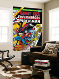Giant-Size Super-Heroes 1 Cover: Spider-Man, Morbius and Man-Wolf Fighting Art by Gil Kane
