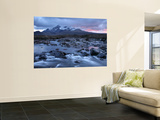 Sligachan River Flowing Down from Glen Below the Black Cuillin Range in Winter Posters by Feargus Cooney